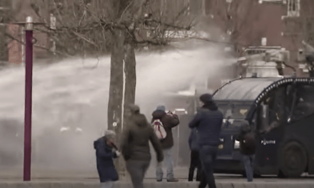 Anti-lockdown protesters clashing with police in 2 cities in the Netherlands