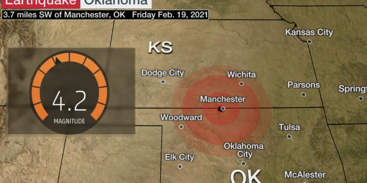 Magnitude 4.2 Earthquake Rattles Oklahoma and Kansas