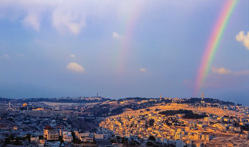 """Rare Rainbow Seen Over Temple Mount Seen As 'Reminder Of God's Covenant"""""""