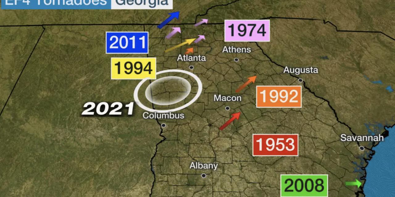 Newnan Tornado Was Rare EF4 Twister in Georgia, 10TH E4 Since 1950