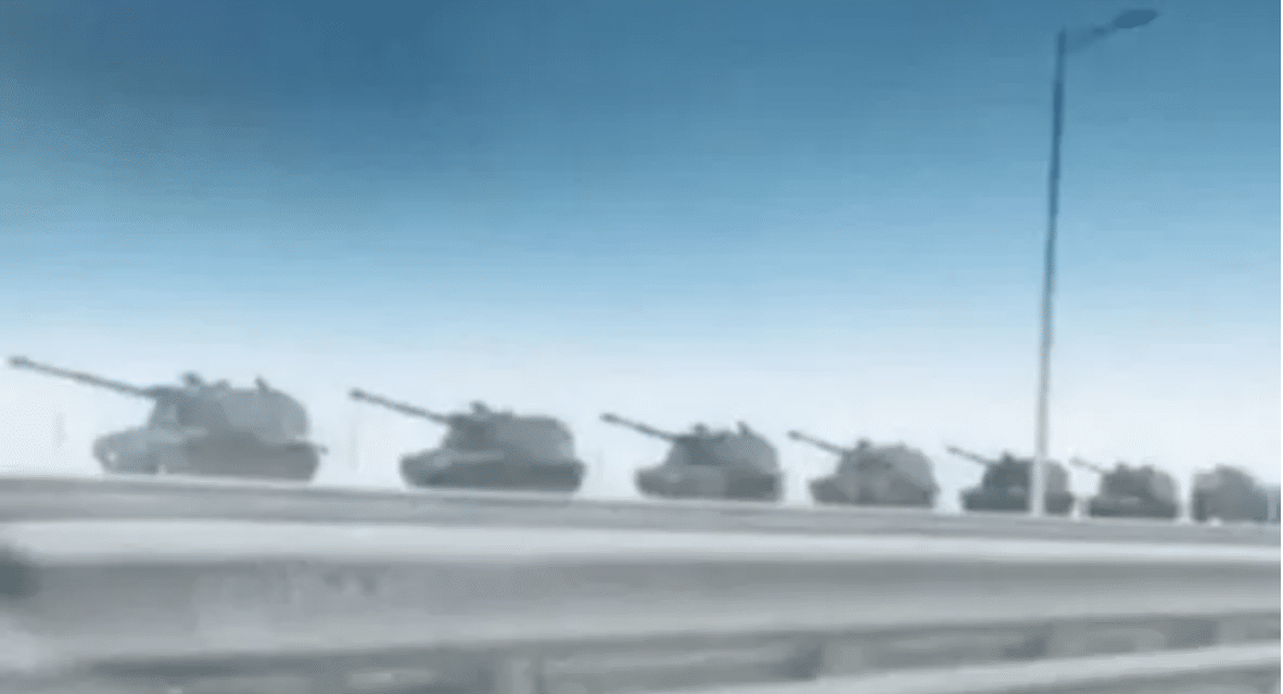 Russia has just moved tanks to the border sparking worldwide alarm