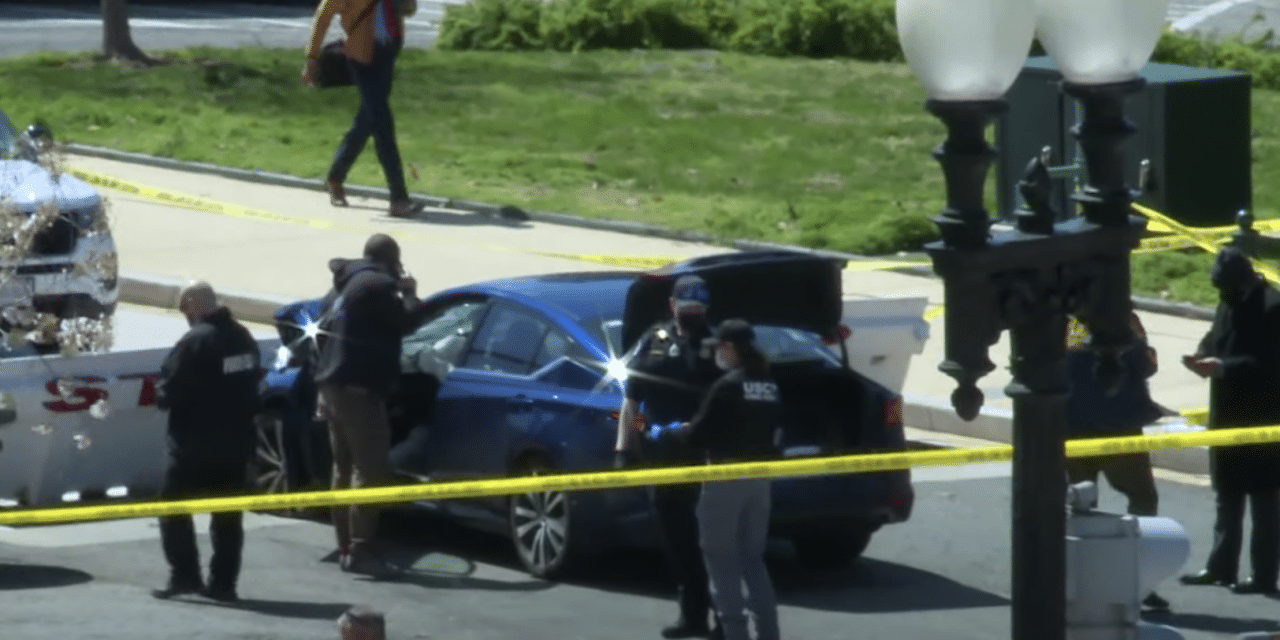 Officer left dead after car ramming at Capitol, Suspect shot and killed after emerging with knife