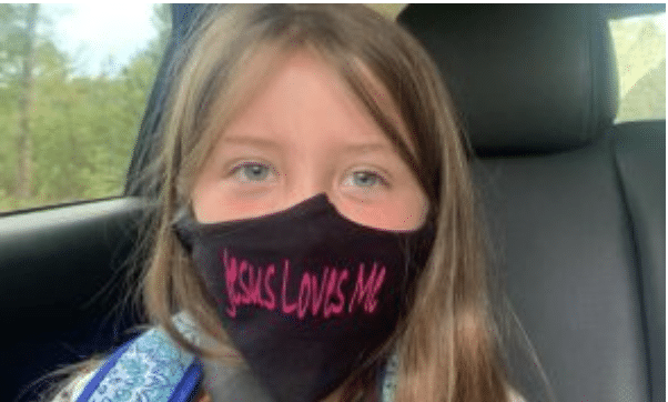 """Third-Grader told to remove """"Jesus Loves Me"""" face mask while other students permitted to wear BLM masks"""