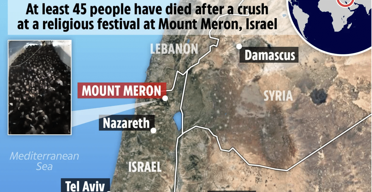 At least 45 people including children have been crushed to death at Jewish festival in Israel