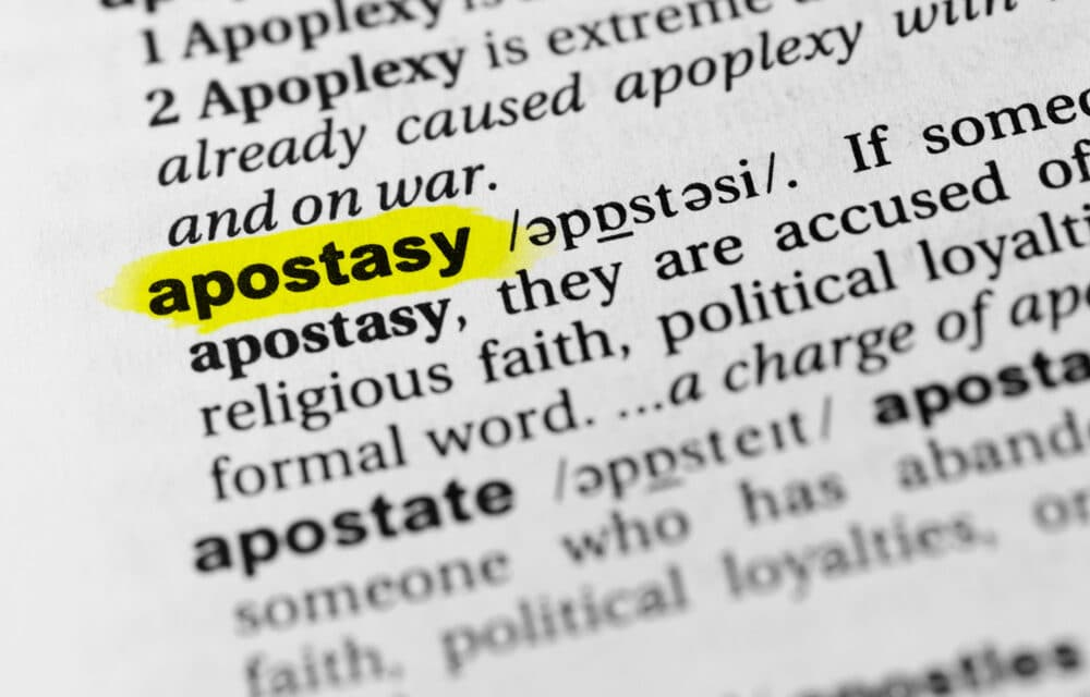 Apostasy is increasing in this hour and who is to be blamed?