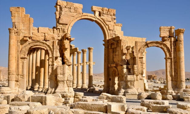 Pagan arch of Palmyra that was dedicated to Baal being reconstructed, Some see it as harbinger of Messiah