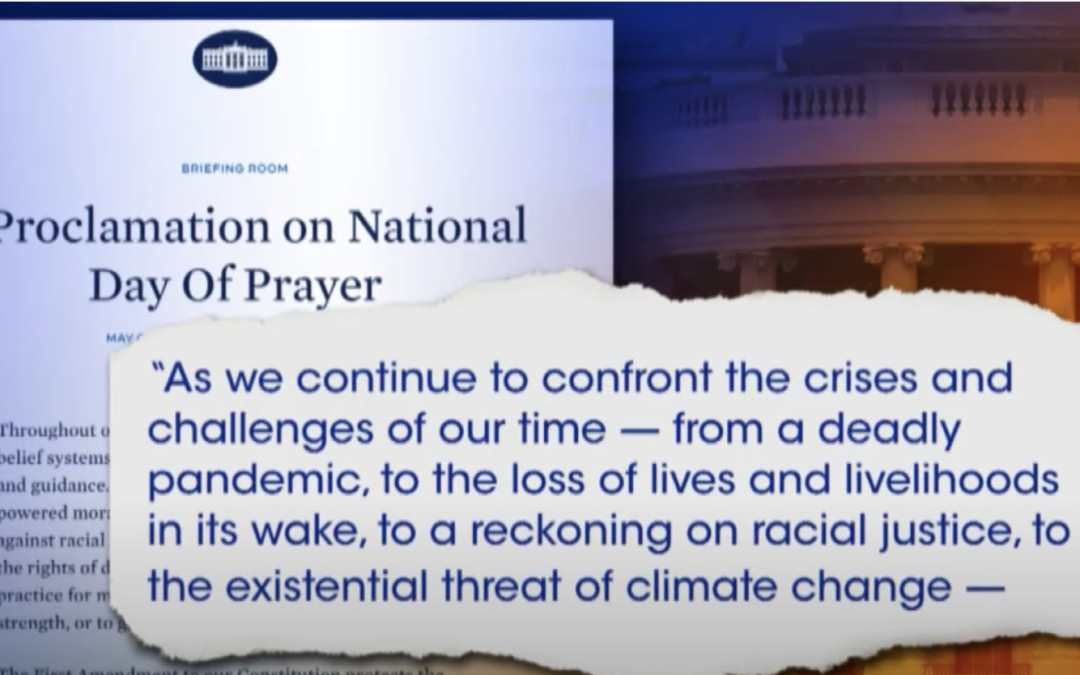 Franklin Graham warns that Biden administration's choice of omitting God from National Day of Prayer proclamation was a dangerous move