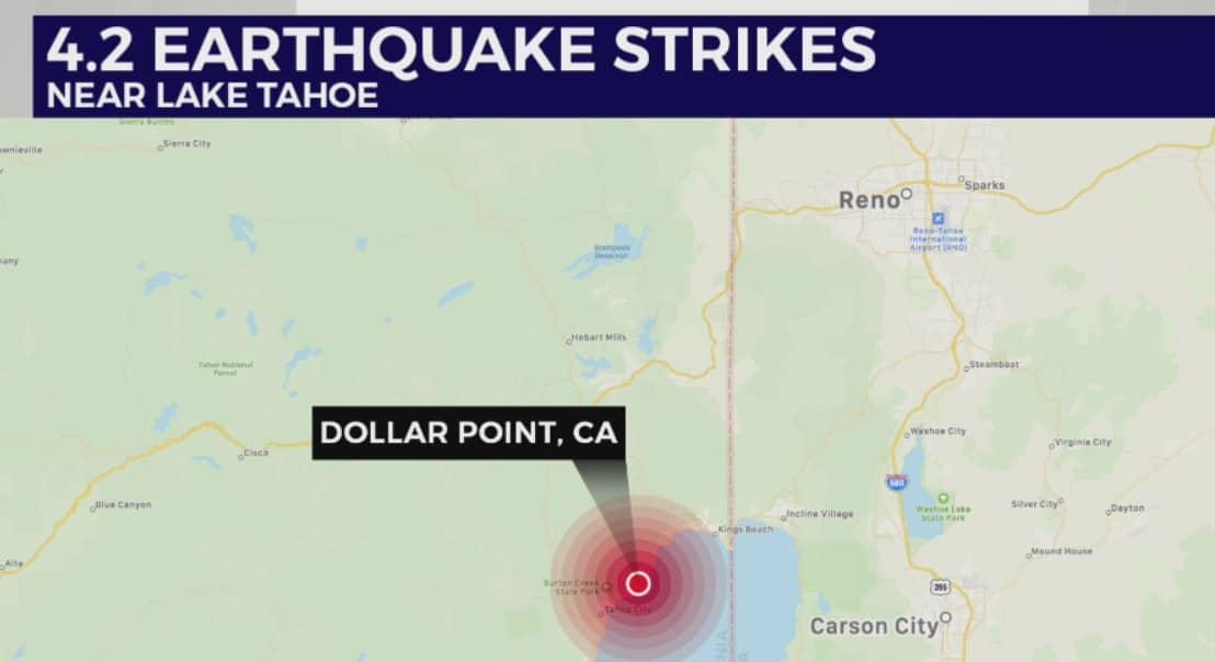 DEVELOPING: Fears of Mega-Quake and Tsunami following earthquake swarm at Lake Tahoe