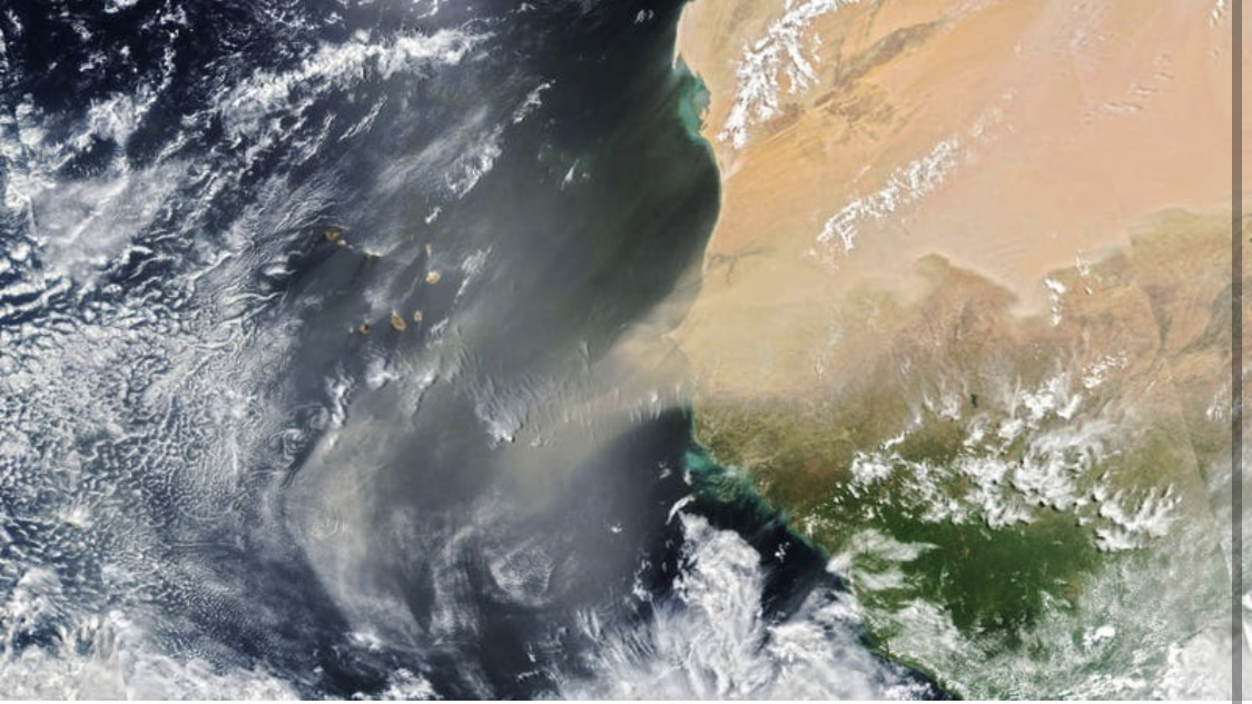 DEVELOPING: Giant dust storm seen on satellite heading to America