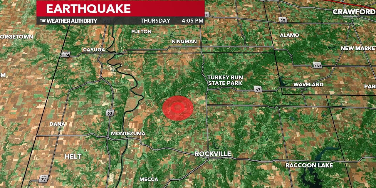 Magnitude 3.8 earthquake rattles Western Indiana; Felt in Chicago
