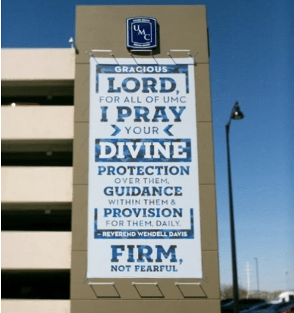 Texas hospital to remove pastor's banner asking for divine protection following outrage from atheists