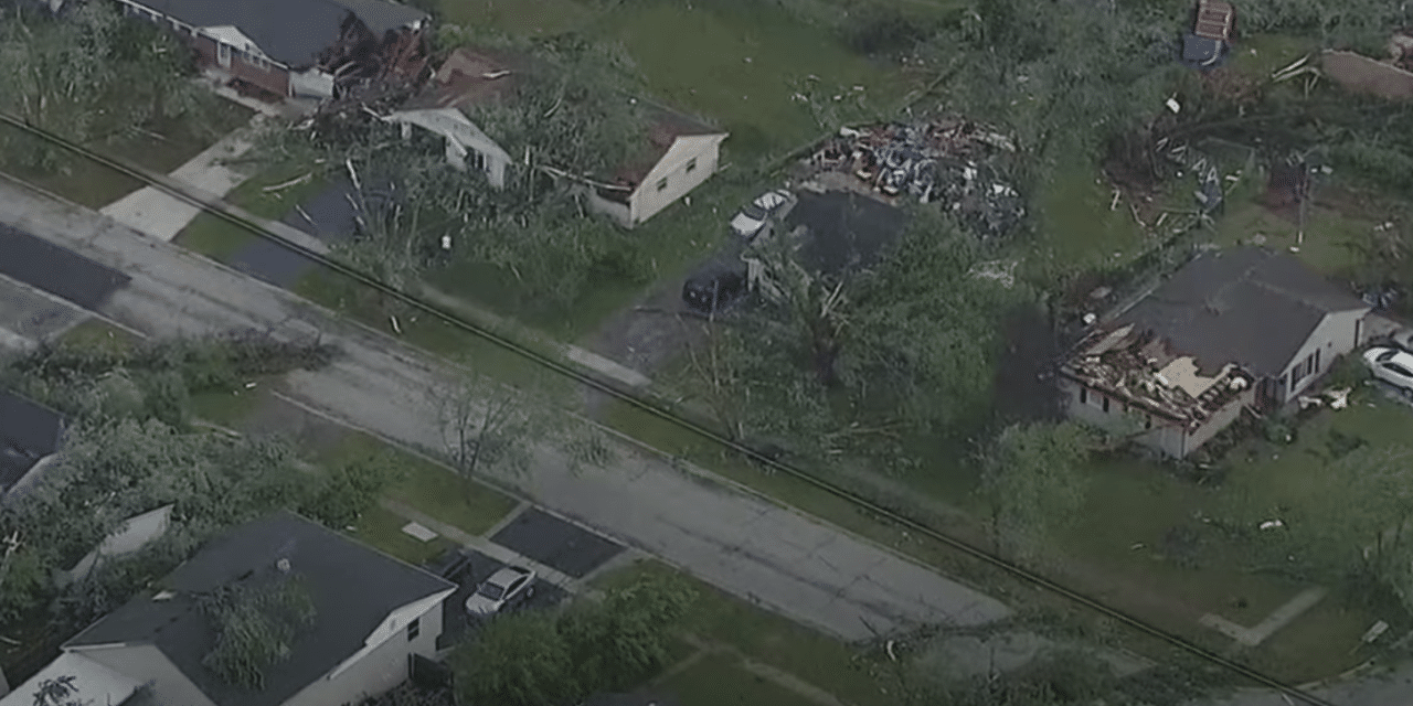 Tornado rips through Chicago suburbs overnight causing damage and injuries