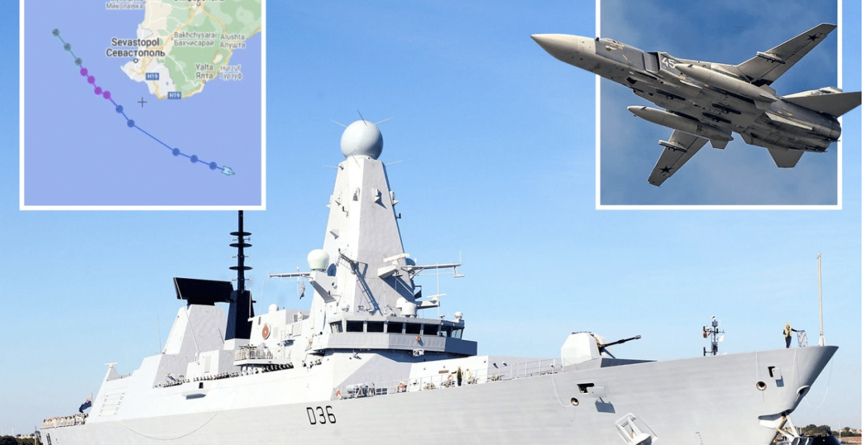 Russia fires warning shots, drops bombs near British destroyer