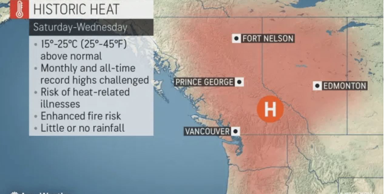 DEVELOPING: Seattle and Portland may smash all-time temperature records…
