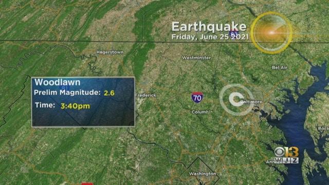 Rare earthquake rattles Maryland residents
