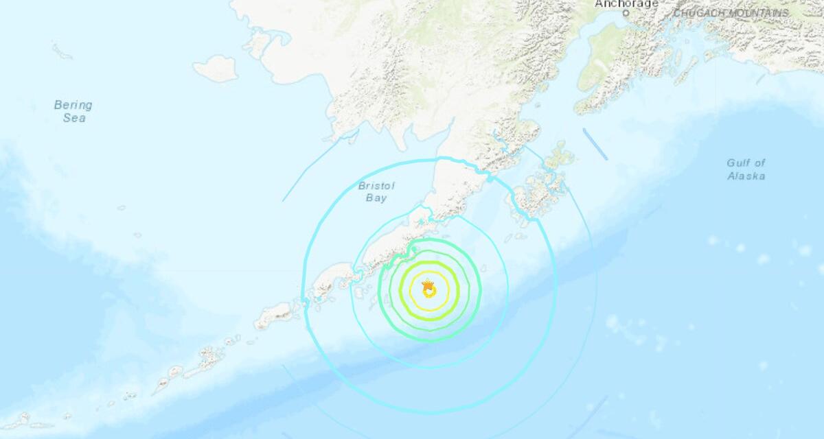 Monster 8.2 earthquake strikes off the coast of Alaska triggering tsunami warning
