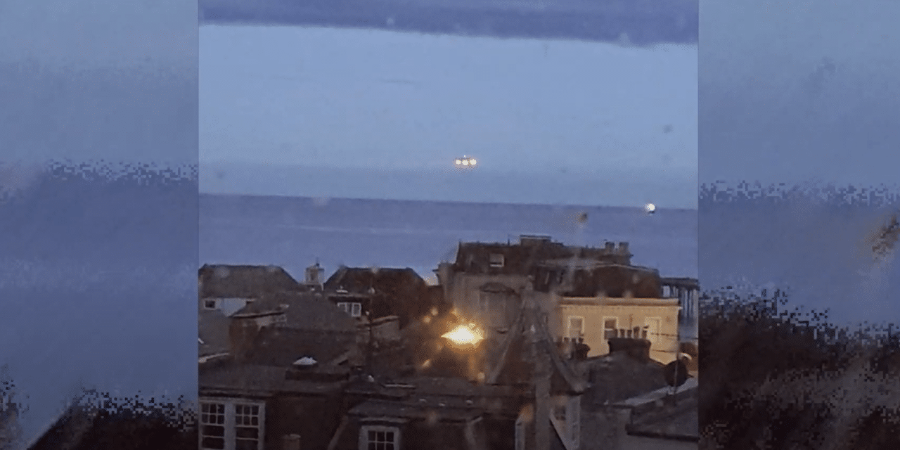 Man photographs large UFO hovering 'for 10 seconds' over Devon seafront before vanishing