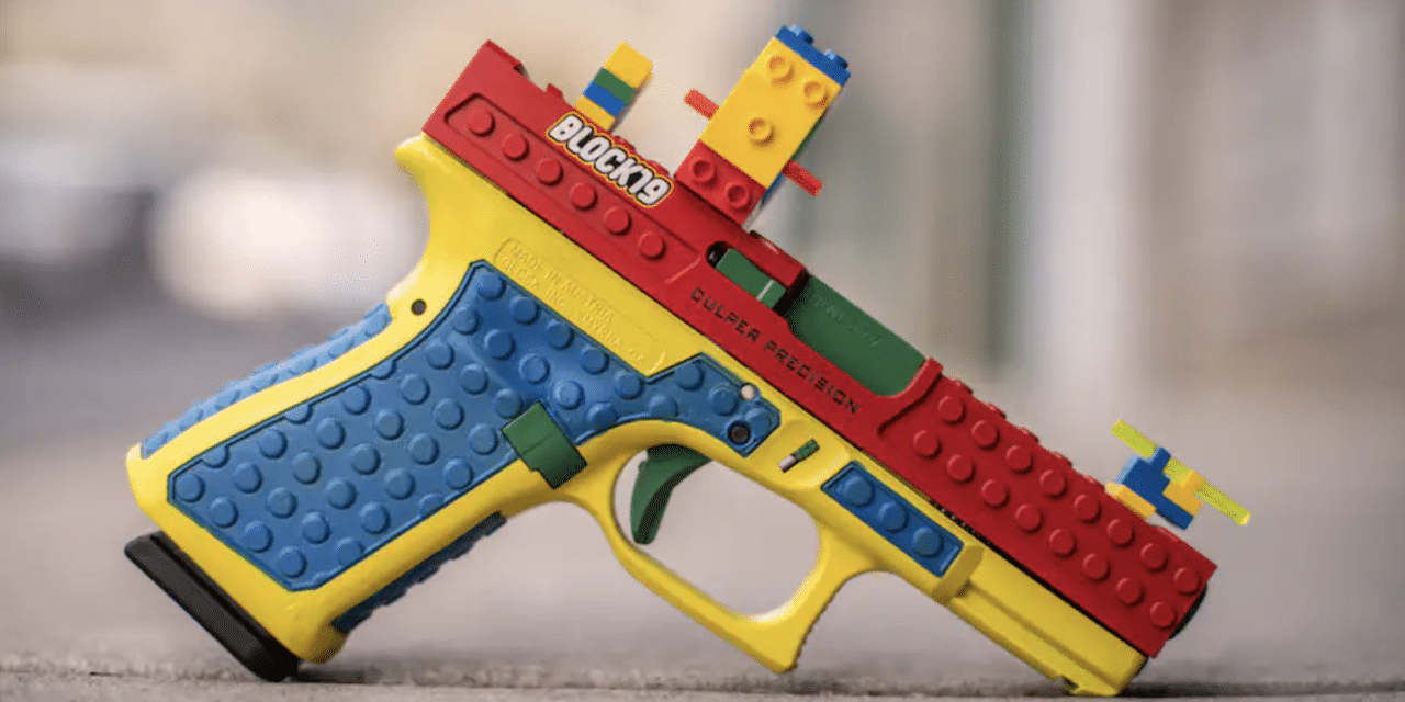 Gun covered in Legos to look like a toy sets off online firestorm