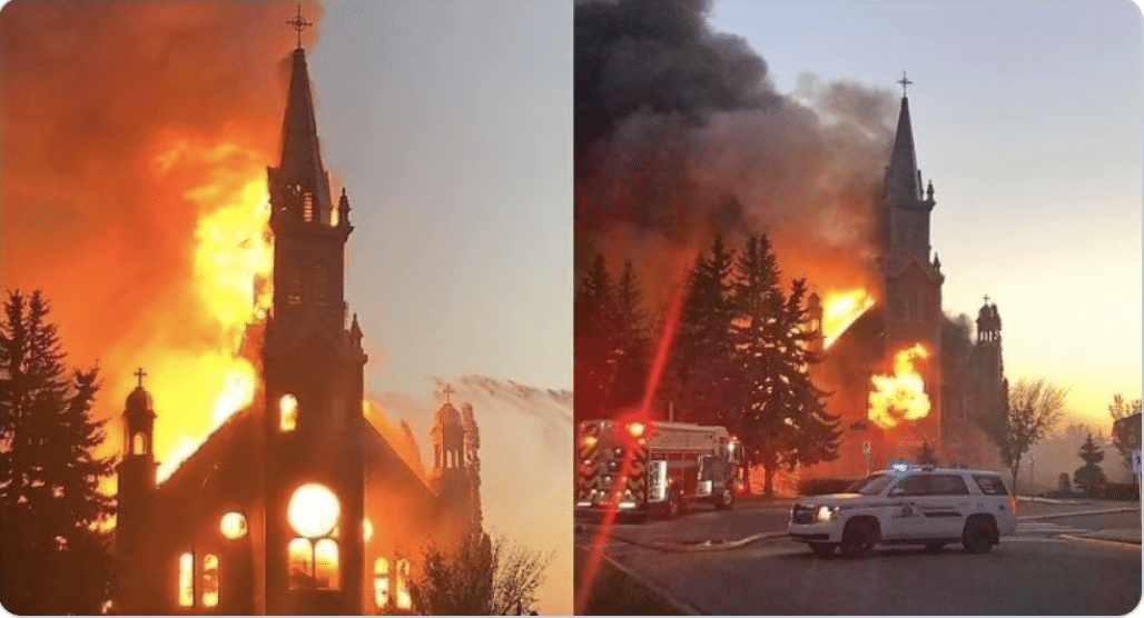 UPDATE: Over 45 churches have been set on fire in ongoing anti-Christian terror campaign in Canada