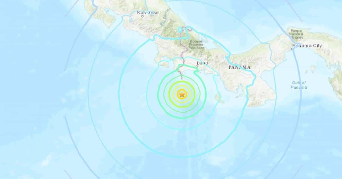 Huge magnitude 7.0 earthquake strikes off the coast of Panama