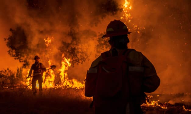 Two California wildfires converge into one forcing evacuations, Dozens of homes have been engulfed