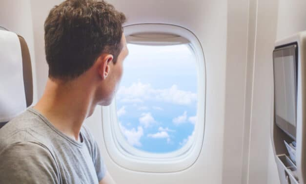 Stunned plane passenger films 'shape-shifting' UFO hovering '30,000 ft' in the air