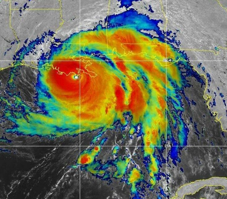 Hurricane Ida makes destructive landfall in Louisiana at Cat 4, 150-185 mph winds, Thousands flee, will levees hold? Power outages reported
