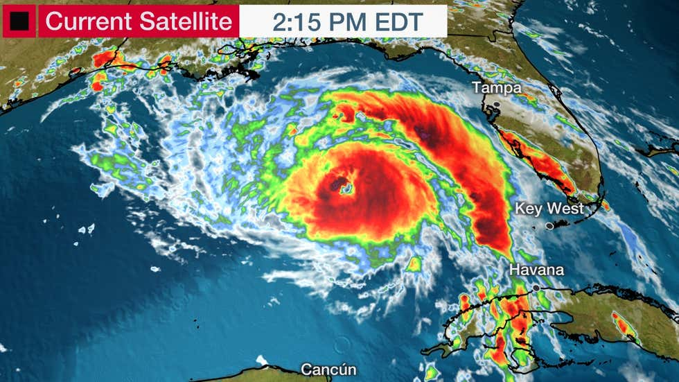 DEVELOPING: Hurricane Ida intensifying, forecasted to strike Louisiana as category 4 storm with 130-160 mph wind gusts