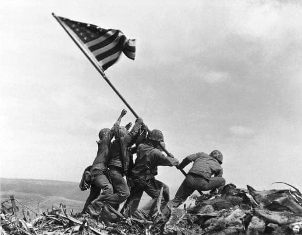 Taliban unit wearing US gear mocks iconic American WWII photo