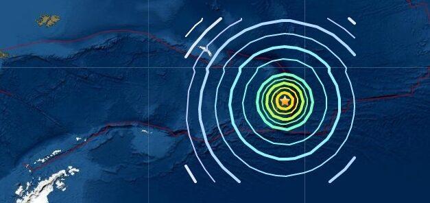 Magnitude 6.9 earthquake strikes South Sandwich Islands region