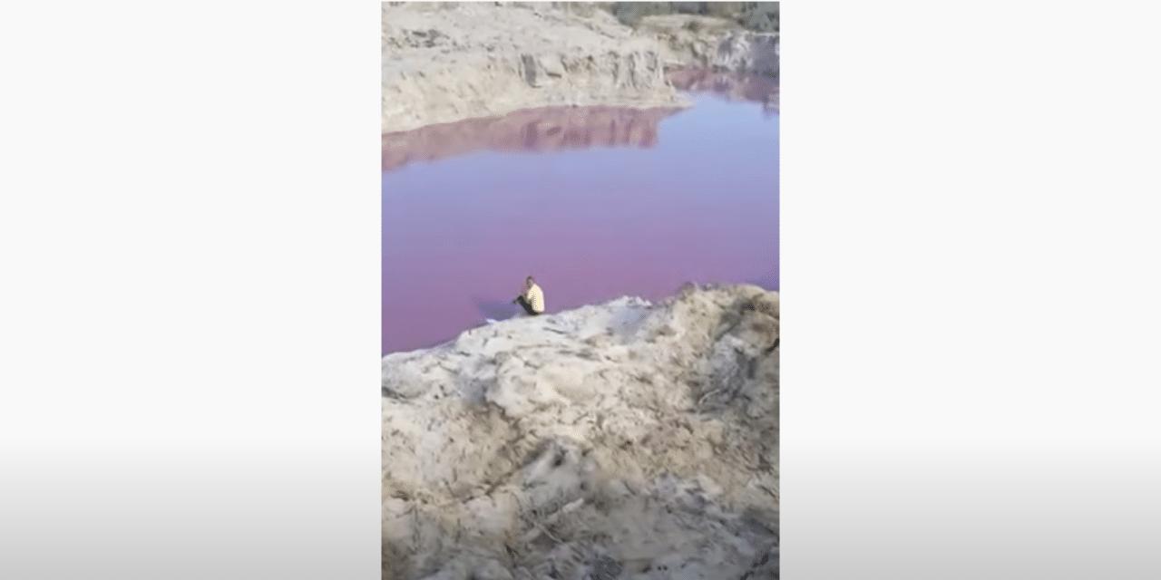 River that flows through Jordan turns blood red triggering fears of harbinger