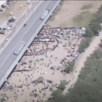 Hundreds of migrants are crossing the border into Texas