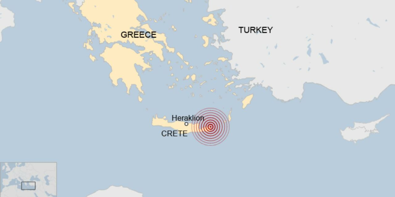 Powerful earthquake strikes Crete, Greece for second time in under 30 days, Felt in Cairo and Istanbul