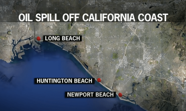Massive 126,000 gallon oil spill off California Coast has killed scores of marine life, Potential ecological disaster