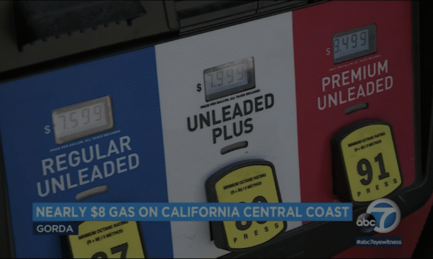 Gas prices have now reached $7.59 in one town in California