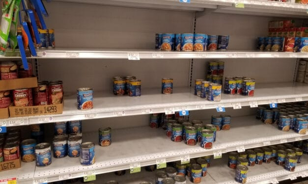 Now they are telling us to expect to see a shortage of canned foods during the Holiday Season